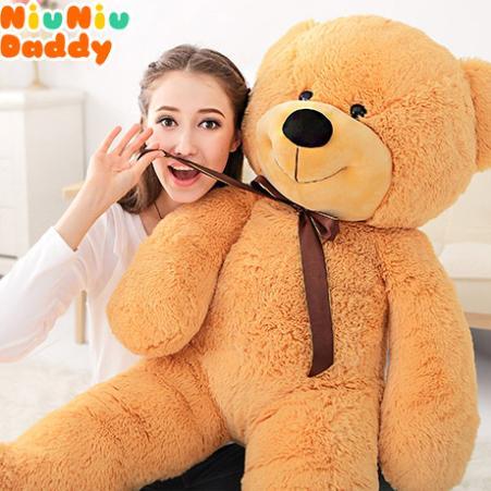 Niuniu Daddy Semi-finished Bearskin 100CM Classic Teddy Bear toys plush toys Bearskin A17(China (Mainland))