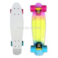 "Fade Pastel  Penny Board 22"" Skateboard Complete  Mini Longboard Bantam  Cruiser Banana Long Skate board Retro Skates"