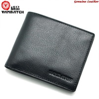 Vanbatch Famous Brand Wallet Money Clip Genuine Leather Cowhide , Carteiras masculinas em couro for Man , Free Shipping