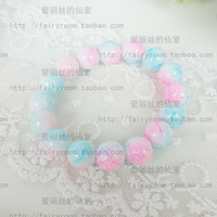 Harajuku, Japan and South Korea beautiful cream color gradient wind sky summer wild new bracelet hand ring three color into