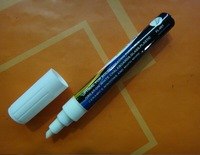 6mm White  Stationery Highlighter Pen Marker Fluorescent Chalk Neon Textbook Liner New 1PCS Free shipping