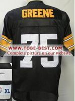 2014 Steelers #75 Joe Greene Yellow,throwback Signed Football Jersey,new Fabric Sport Jersey,size M--xxxl,accept Mix Order,free