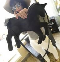 2014 NEWLY BLACK Color Fashion Unicorn Women's Handbag Clutch 5 colors choice