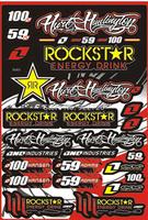 Free shipping Waterproof Vinyl Adhesive Motorcycle Sticker 1 Sheet 30x45cm For Rockstar Energy Drink Racing Sticker