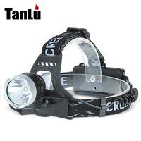 New CREE 2000Lm XM-L XML T6 LED Adjustable Headlight Rechargeable Headlamp(by 2*18560 batteries) Head Light Flashlight