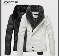 Fashion man genuine leather thicken motorcycle jacket coat  men keep warm leather jacke men Large size  leather clothing M-XXL