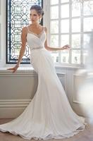 Hot sale White/ivory  sleeveless  wedding dress Bridal gown Custom Size
