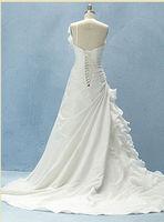 Hot sale White/ivory  sleeveless wedding dress Bridal gown Custom Size A-1127