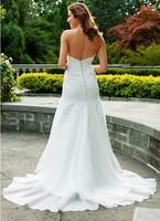 Hot sale White/ivory sleeveless wedding dress Bridal gown Custom Size A-134