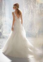 Hot sale White/ivory  sleeveless wedding dress Bridal gown Custom Size A-129