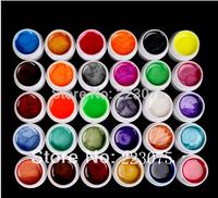 Free Shipping DIY New 30 PCS Mix Colors Pearls UV Builder Gel Acrylic Set for Nail Tips  Nail Art