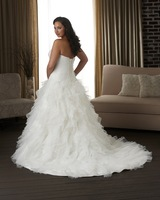 2014 Hot sale A-Line White/ivory  wedding dress Bridal gown Custom Size A-95
