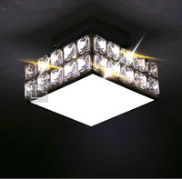 Modern Square Chandelier Crystal Lamp 12Watt, Living Room Chandeliers,AC110V & 220V Aisle Balcony Home Pending Chandelier