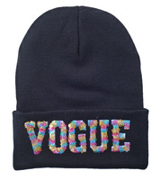 2014-VOGUE NEW STYLE!>>HOTMES BEANIE,Winter and autumn BOY AND GIRL CAP, skullies BLACK VOGUE Knitting hats!FREE SHIPPING!