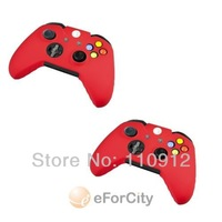 Free shipping,NO provide tracking no.1pcs Red color Protective Silicone Gel Skin Case Cover for Microsoft XBOX ONE Controller