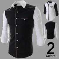 2014 Spring Fashion New Casual Shirts Men,Hotsell Men's Shirts,Korea Slim Design Long Sleeve Shirts,Free&Drop shipping