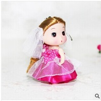 24pcs/lot  confused doll 8cm  for girls  Wedding favor gifts for guests cell phone accessories fashion small  toys keychains