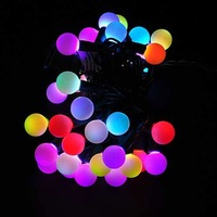 Free Shipping 1 Pics Multi-color Changing LED RGB Ball String Christmas Xmas Lights Belt Light For Indoor and Outdoor Decoration