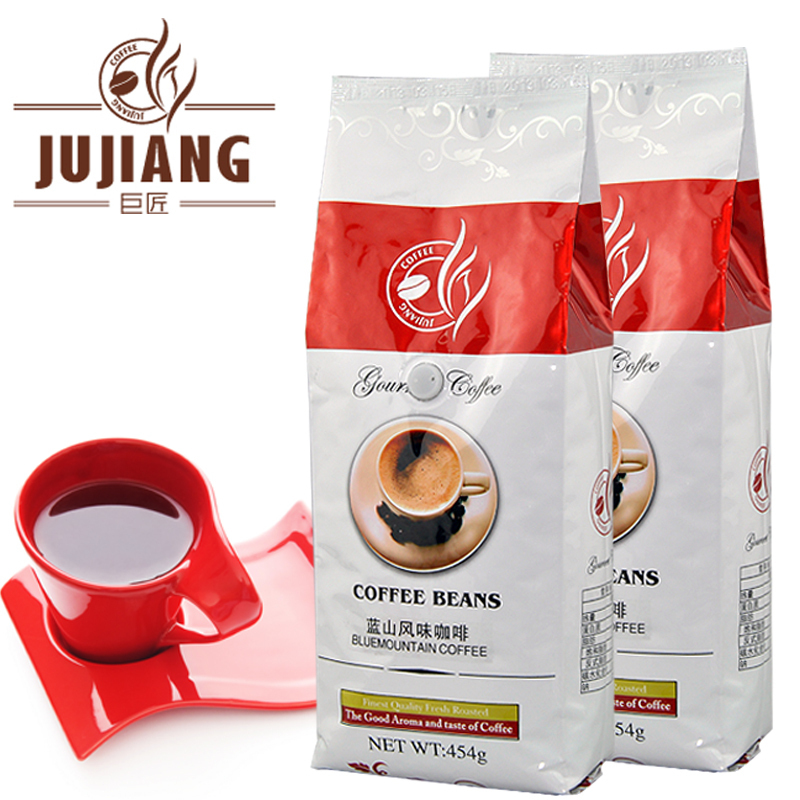 454g Fragrant blue mountain coffee beans bags green slimming coffee beans tea