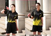 NEW U Free shipping 2014 butterfly  Badminton Women Shirt Tennis Clothes Shirt+shorts