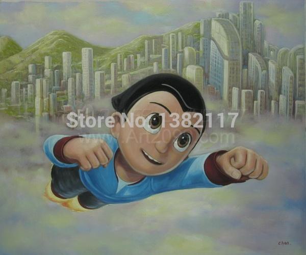 Print painting art work /movie Astro boy /Tetsuwan Atom 2(China (Mainland))