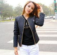 NEW 2014 jackets women Winter and autumn fashion coat for woman cotton jacket Personalized metal zipper decorationplse size 5XL