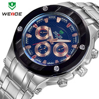 WH1003 Men Sport Weide Watch 4 Colors  Full steel Watch Sports Diver Quartz Wristwatch with Gift Box Free Shipping