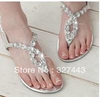 Women's Sandals 2013 Summer Beach Flip Flops Lady Slippers Sandals for Women Diamand Cross Flat Shoes Women Free Shipping