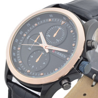 Free Shipping, CURREN Brand New Fashion Men Leather Watch, Military Waterproof Watches, Japanese Quartz Movement Watch