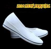Height Increase 2014 Women's Flats Canvas Shoes Cotton Fabric Flats for Women Fashion Casual Flat Heel Black White Free Shipping