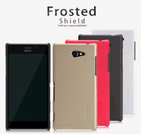 New Genuine Nillkin Super Shield Shell Hard Case Cover Skin Back + Screen Protector For Sony Xperia M2 M2 dual D2303 D2305 D2306