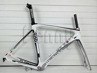road bike de rosa 888 frame glossy white-silver full carbon fiber frame carbon road frame
