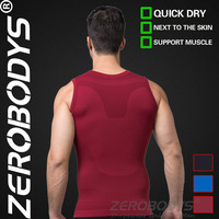 Fast Shipping ZEROBODYS Outdoor Mens Body Shaper Quick Dry Vest 390 RD Fitness Top Crop Tops Fitness Sports Yoga Top Tank Tops