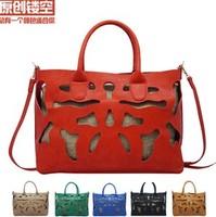 8.19 Sales Promotion!New 2014 Brand Desigual Hollow Out Women Leather Handbag Fashion Women's Shoulder Bag Ladies Tote