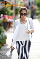 Hot Sale 100% Linen women's 3/4 sleeve spring autumn blazer