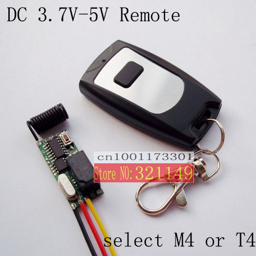 Free shipping mini size RF wireless remote control switch 3V 3.7v4.2v 5VRF Wireless Remote Control Switch system Learning code(China (Mainland))