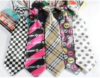27 designs free shipping baby kids children ties neck tie ties Boys Girls tie 10pcs/lot silk print neckties Colors can choose