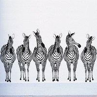 [Black White]Free shipping Drop shipping Wall stickers Wall decal Wall paper  PVC stickers animal Zebra L-840