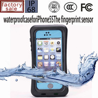 Factory price cell phone case for iphone 5s/5 with fingerprint sensor floating swiming case 1pcs with gift box