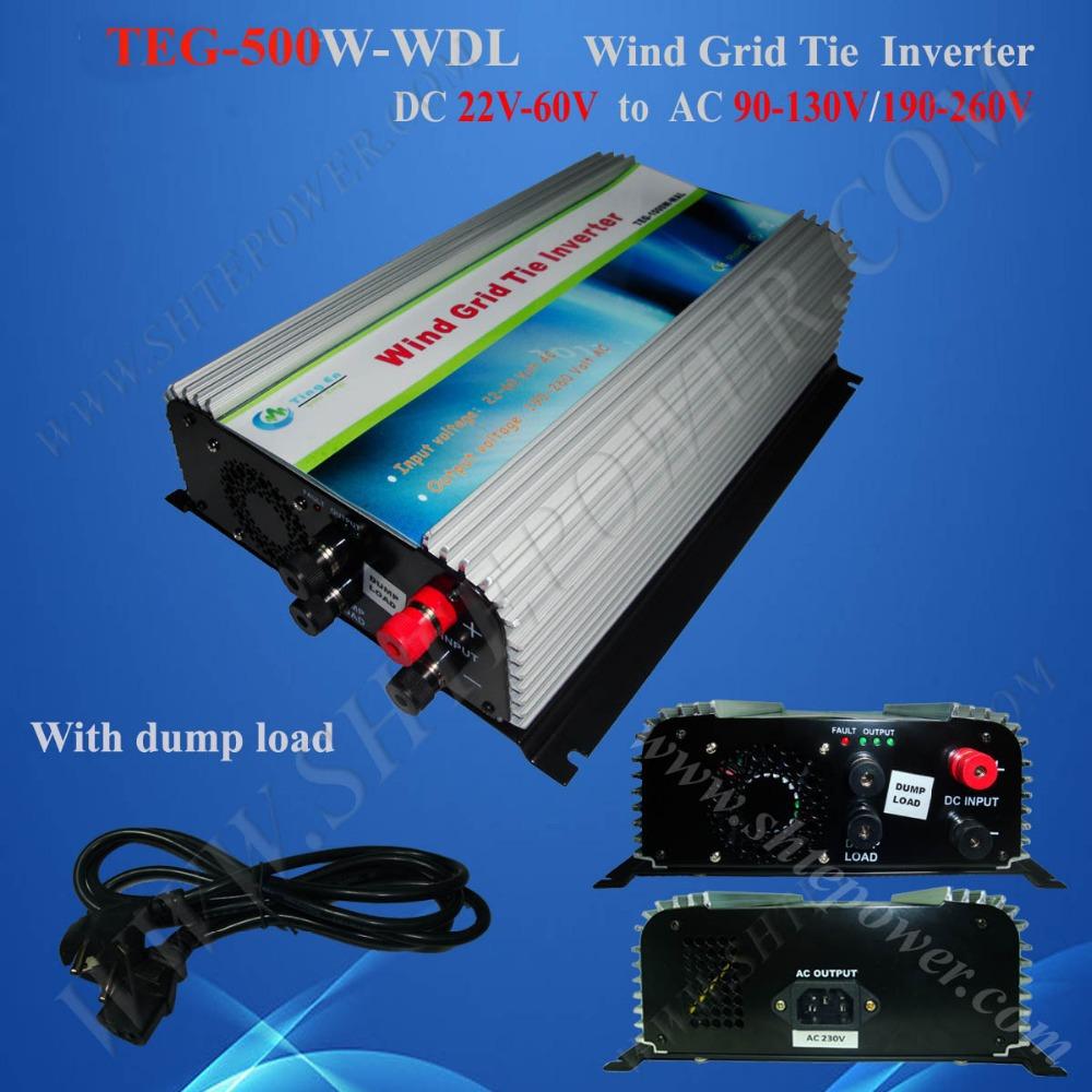 500w wind power grid tie inverter dc to ac micro inverter grid tie inverter 240v(China (Mainland))