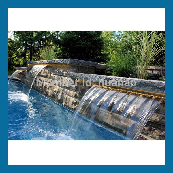 Piscina cascada planta permanente cascada pl stico for Casa de plastico para jardin