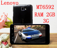 """new arrive Lenovo P780 C 5.0"""" 3G Quad/Octa Core MT6582/MT6592 4GB+2GB Android 4.4 Tablet PC Phone Leather Flip Case For Gift"""