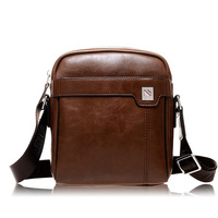 2014 New vintage small men bag pu leather male one shoulder crossbody messenger bags casual man bag