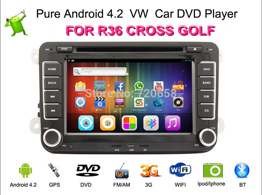 Автомобильный DVD плеер Kaichuang Android 4.2 DVD Volkswagen VW MK5 MK6 PASSAT CC JETTA SHARAN CADDY GPS WIFI car door warning light connection cable plug for vw golf jetta mk5 mk6 passat b6 b7 cc touareg sharan 3ad 947 411 3b0 972 702