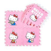 New arrival middlebury membrane pink hellokitty cartoon child crawling mat for HELLO KITTY foam puzzle mats