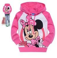 xlbb8 kids clothes children hoodies 2-8 age girls minnie mouse hoodie 6pcs/ lot free shipping