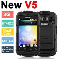 """Discovery V5+ Shockproof Android 4.2.2 Phone 3.5"""" Capacitive Screen MTK6572 1.2Ghz 3G WiFi Dual Core Cellphone Russia Polski"""