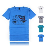 Summer 2014 Brand Cotton Letter pattern fitness sport man t-shirts boys t shirt neck short sleeve men top Free shipping
