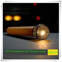 KTV microphone LED Pendant Lamps Indoor Lighting chandelier lights warm white198mm*57mm AC110V -240V