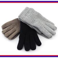 2015 autumn and winter fashion plaid thick gloves, black dark gray brown velvet cotton women short wrist gloves Free Shipping